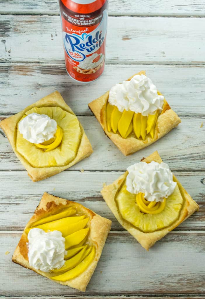 These Pineapple and Mango Puff Pastry Squares are my favorite go-to dessert when you need something quick and easy to make. They are truly irresistible!