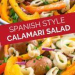 spanish style calamari potato salad graphic