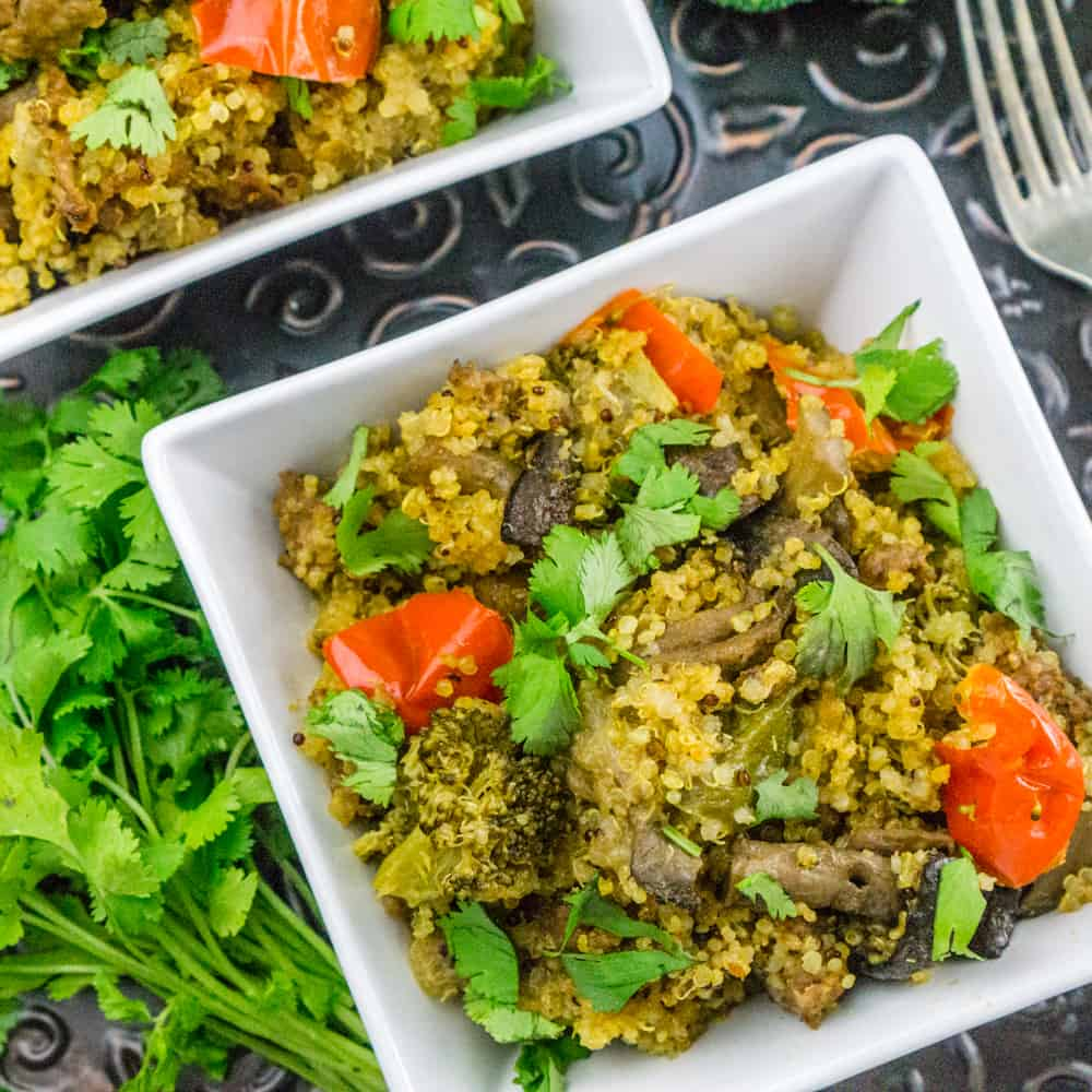 Instant Pot One-minute Quinoa with Sausage and Vegetables : Babaganosh.org