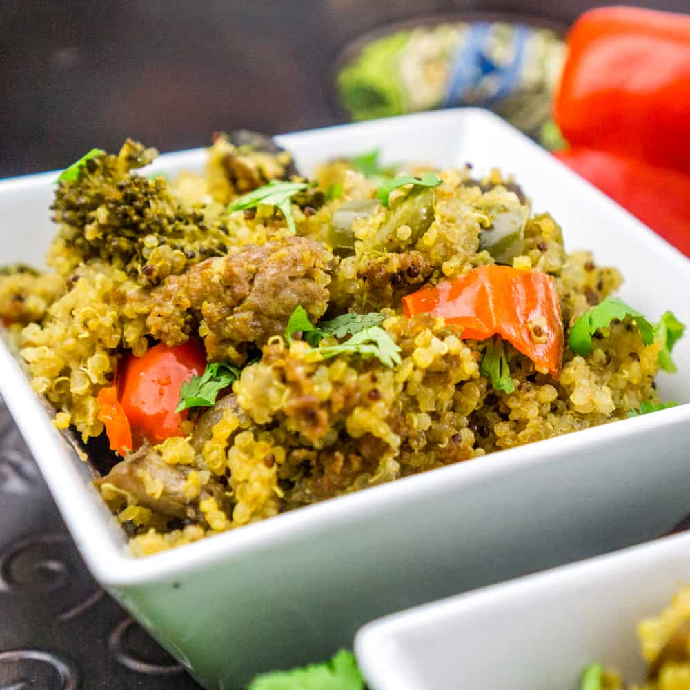 Instant Pot Quinoa with Sausage and Vegetables : Babaganosh.org
