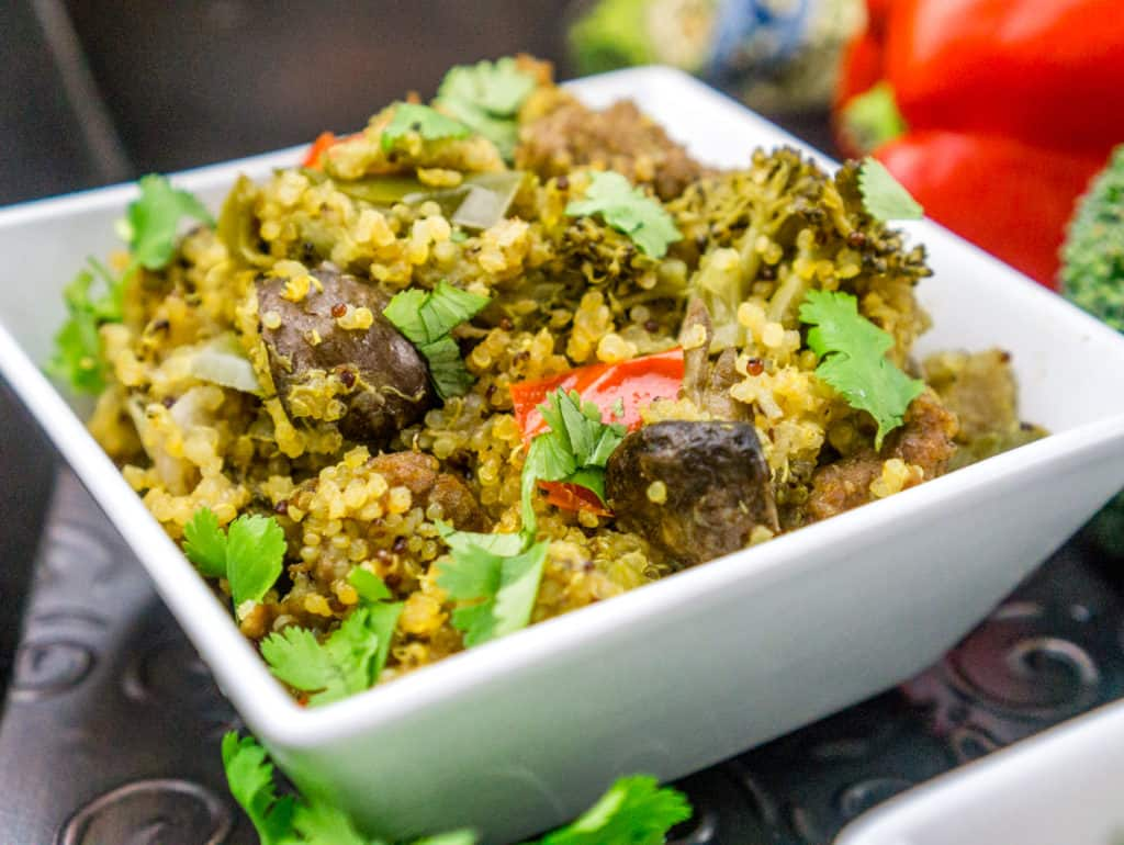 Instant Pot Quinoa with Sausage and Vegetables