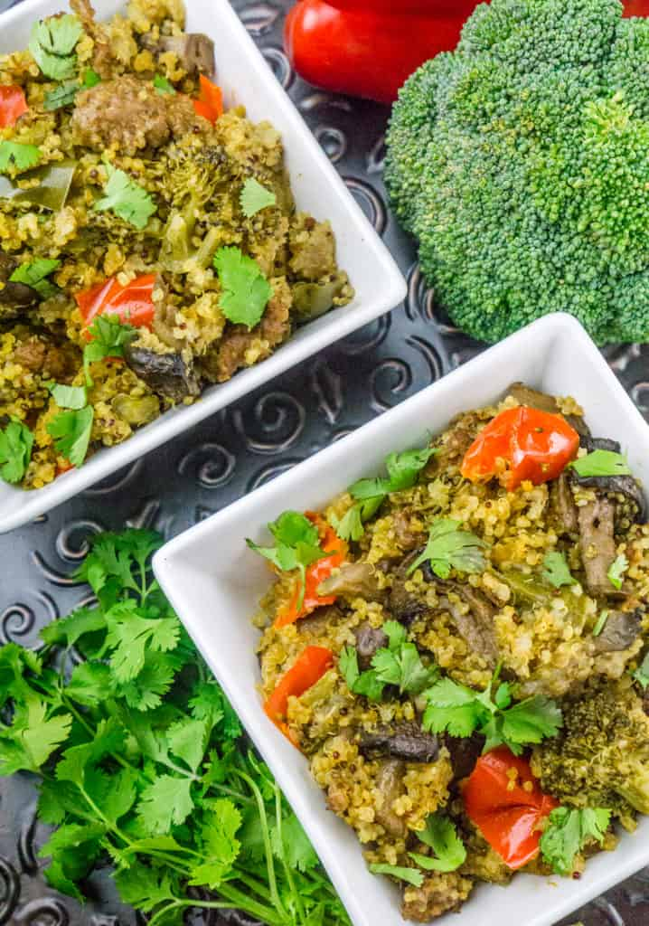 Instant Post Quinoa with Sausage and Vegetables : Babaganosh.org