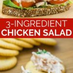 3 ingredient chicken salad graphic