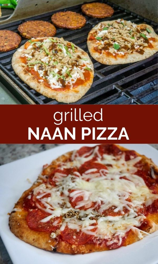 grilled naan pizza pinterest graphic