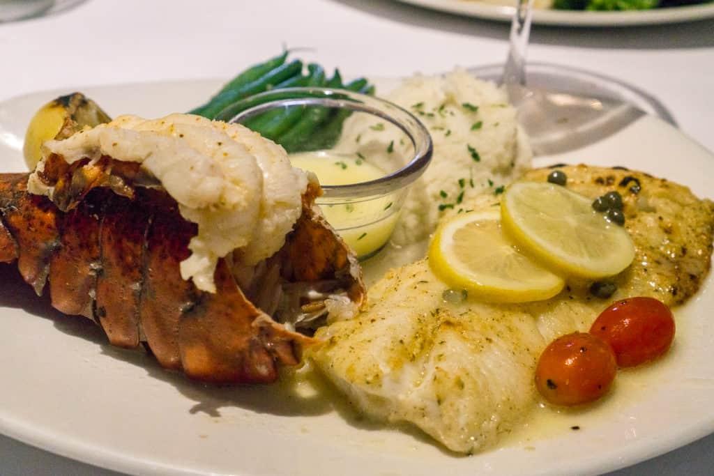 Bonefish Grill Summer Menu - Cod Picatta & Lobster Tail