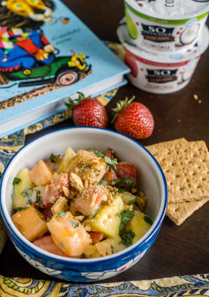 Creamy Fruit Salad with Key Lime Dressing - Babaganosh.org