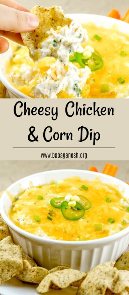 No-Bake Cheesy Chicken Corn Dip - Babaganosh.org