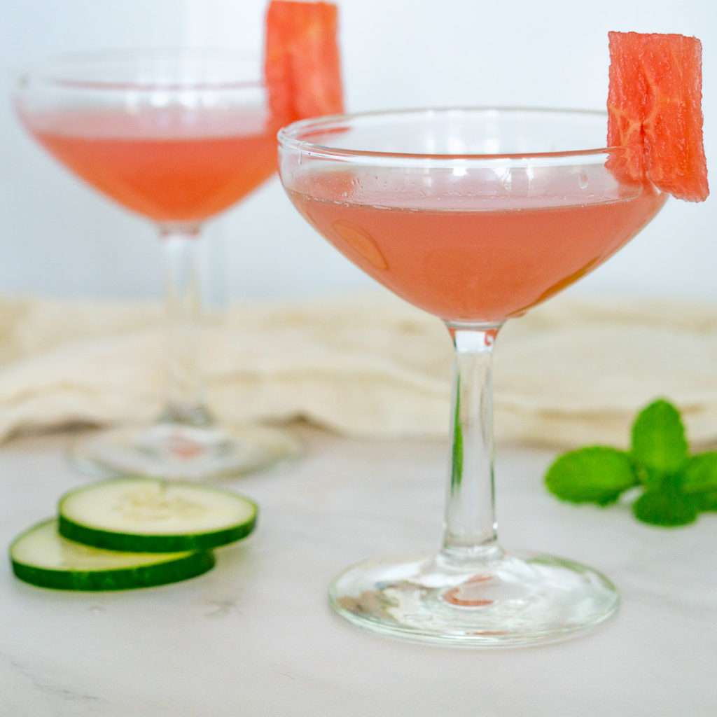 watermelon martinis in glasses - bonefish grill recipe