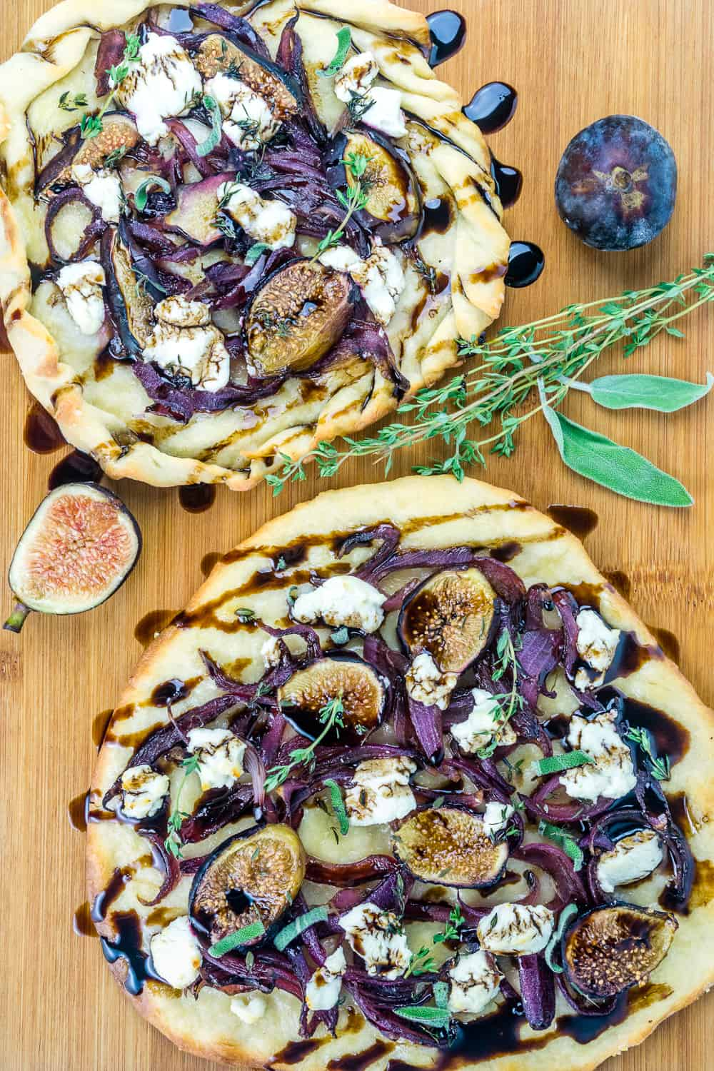 Caramelized Onion, Fig, & Goat Cheese Flatbreads - Babaganosh.org