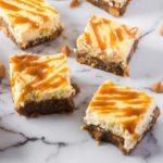 squares of butterscotch eggnog blondies