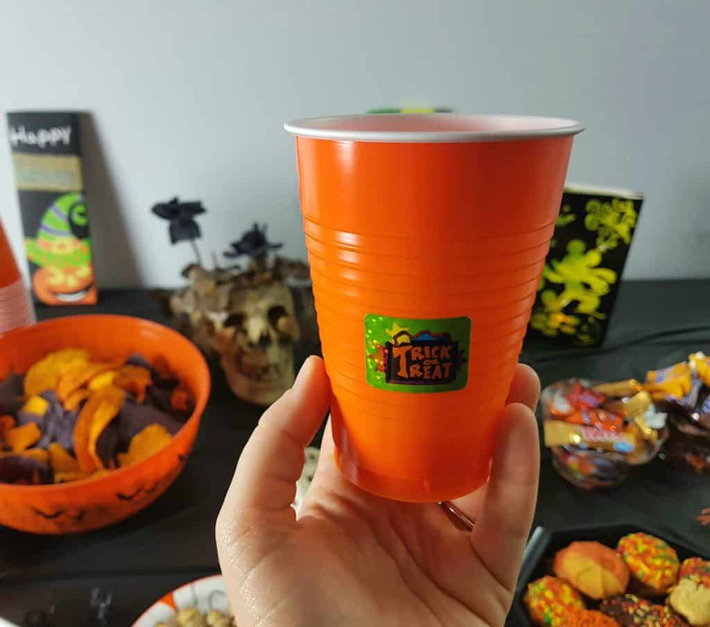 Halloween Party Tutorial - Cup Labels