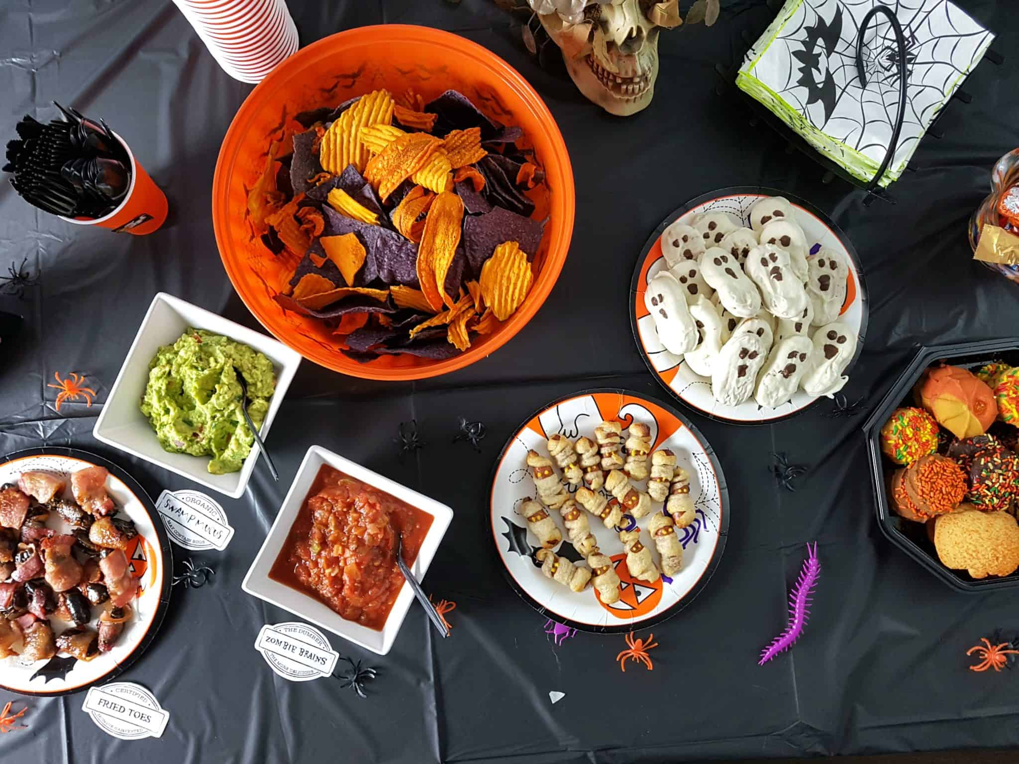 Halloween Party Tutorial for Busy People - Snack Table