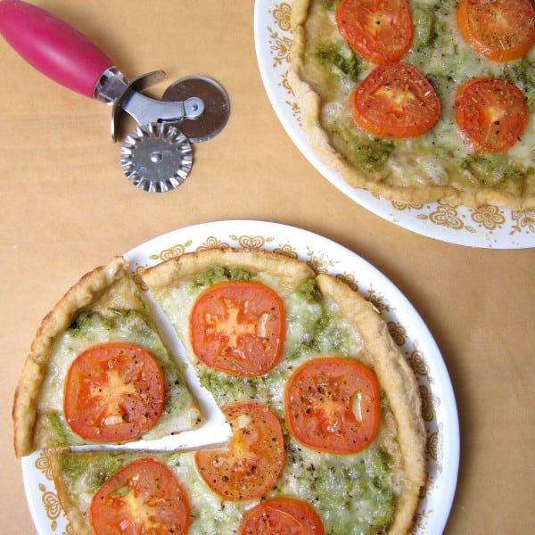 Pesto & Tomato Pizza with Two Ingredient Pizza Dough