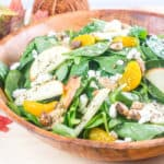 Apple Mandarin Orange Spinach Salad with homemade Mandarin-Poppyseed Dressing - www.babaganosh.org