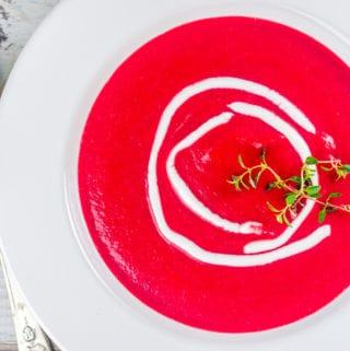 Butternut Squash Beet Soup - www.babaganosh.org
