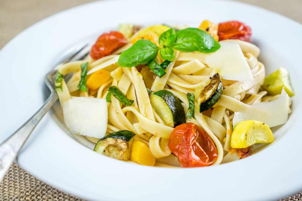 Roasted Vegetable Fettuccine