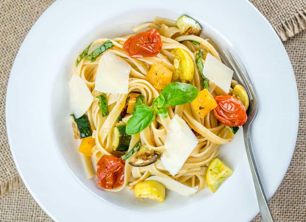 Roasted Vegetable Fettuccine - from Babaganosh.org