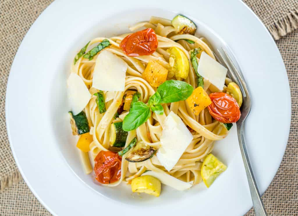 Roasted Vegetable Fettuccine - from Babaganosh.org