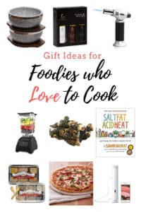 Gift ideas for foodies who love to cook - pinterest image