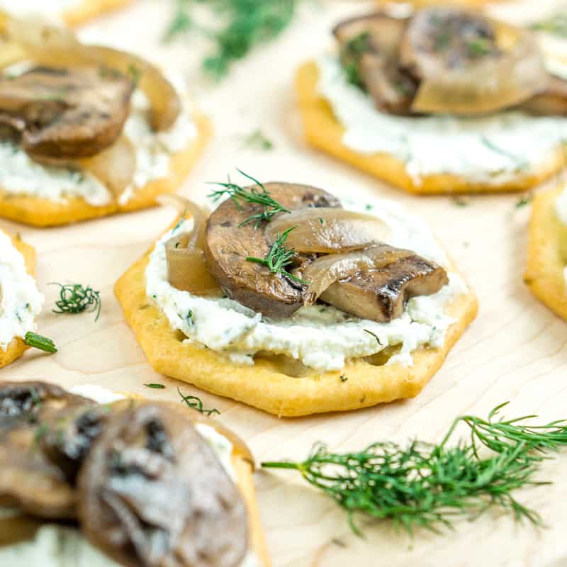 Whipped Feta with Truffled Mushrooms Appetizer - Babaganosh.org