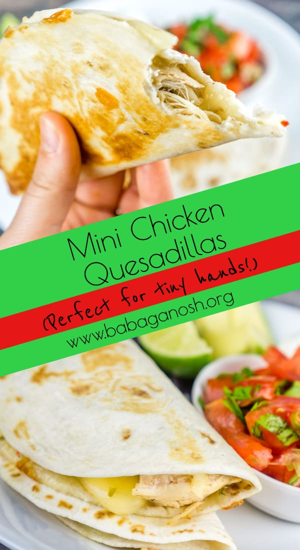 Mini Chicken Quesadillas pinterest image