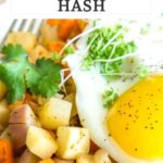 pinnable image of turnip vegetable hash