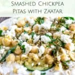 Smashed Chickpea Pitas with Zaatar