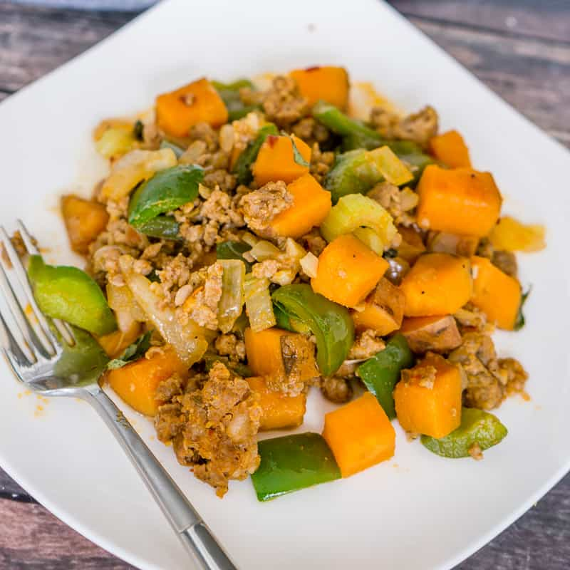 Sweet Potato Sausage Skillet with Bell Peppers