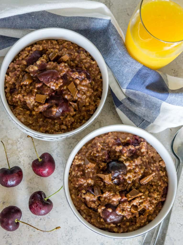 Instant Pot Cherry Chocolate Steel Cut Oats