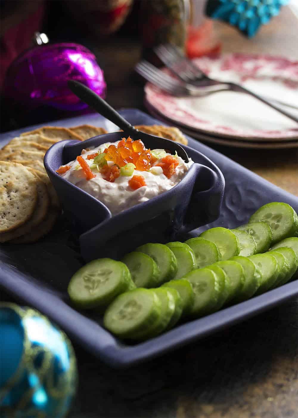caviar and smoked salmon dip - lox recipes roundup