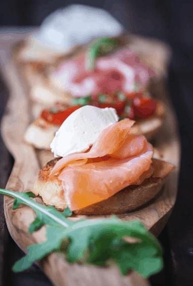 smoked salmon crostini - lox recipes roundup
