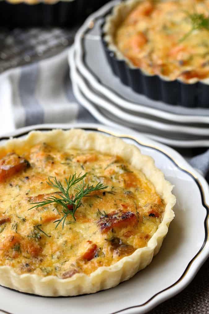 Smoked Salmon dill horseradish tartlets - lox recipe roundup