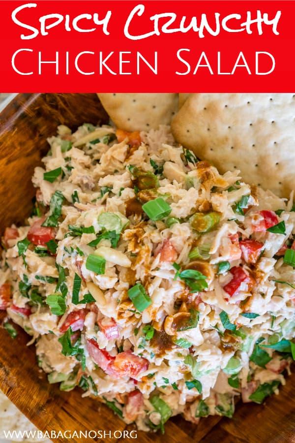 crunchy spicy chicken salad pinterest image
