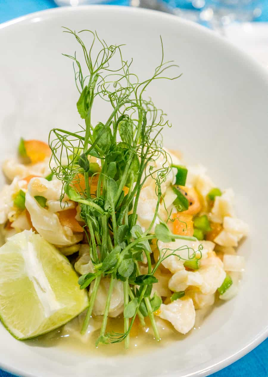 Conch Salad from Blue Marlin Cove Restaurant, Grand Bahama