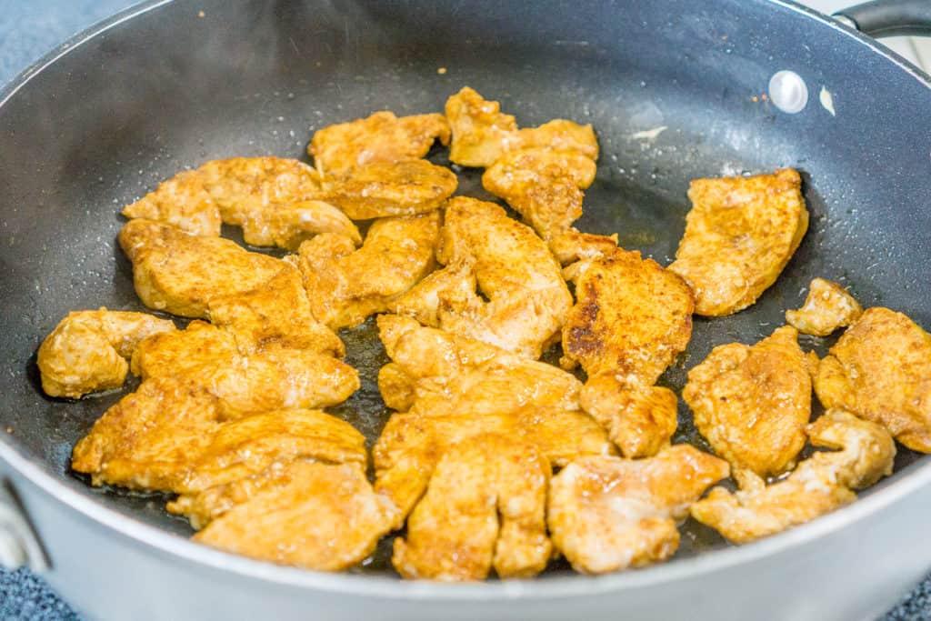 fajita seasoned chicken breast cooking