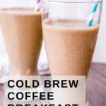 pinterest image of breakfast coffee smoothie