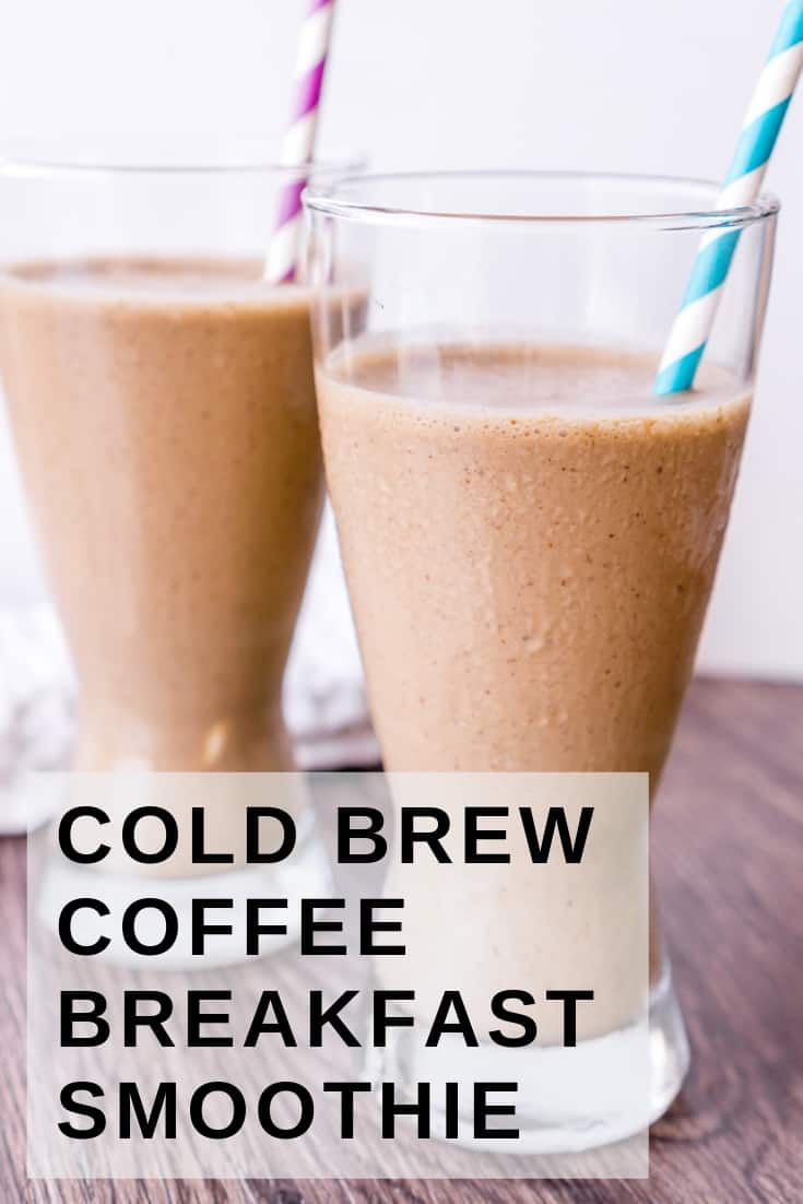 pinterest image of breakfast coffee smoothie