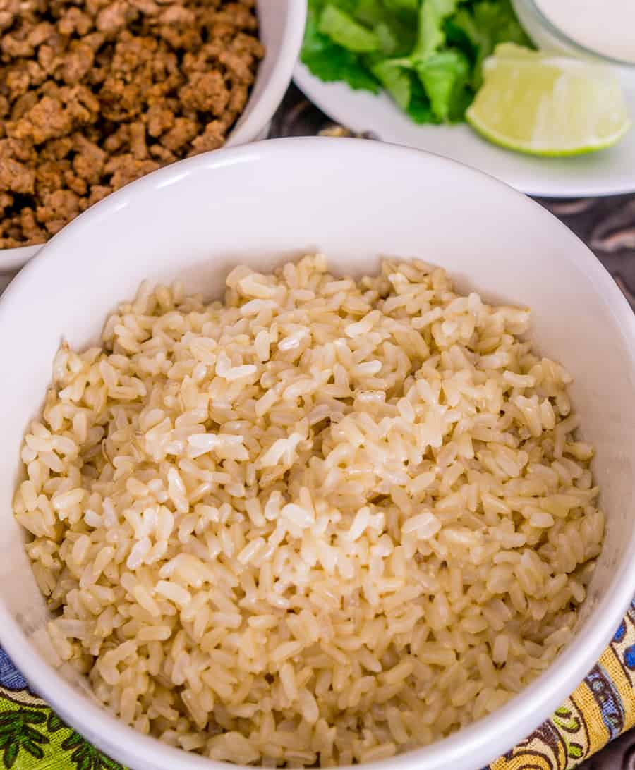 image of brown rice bowl