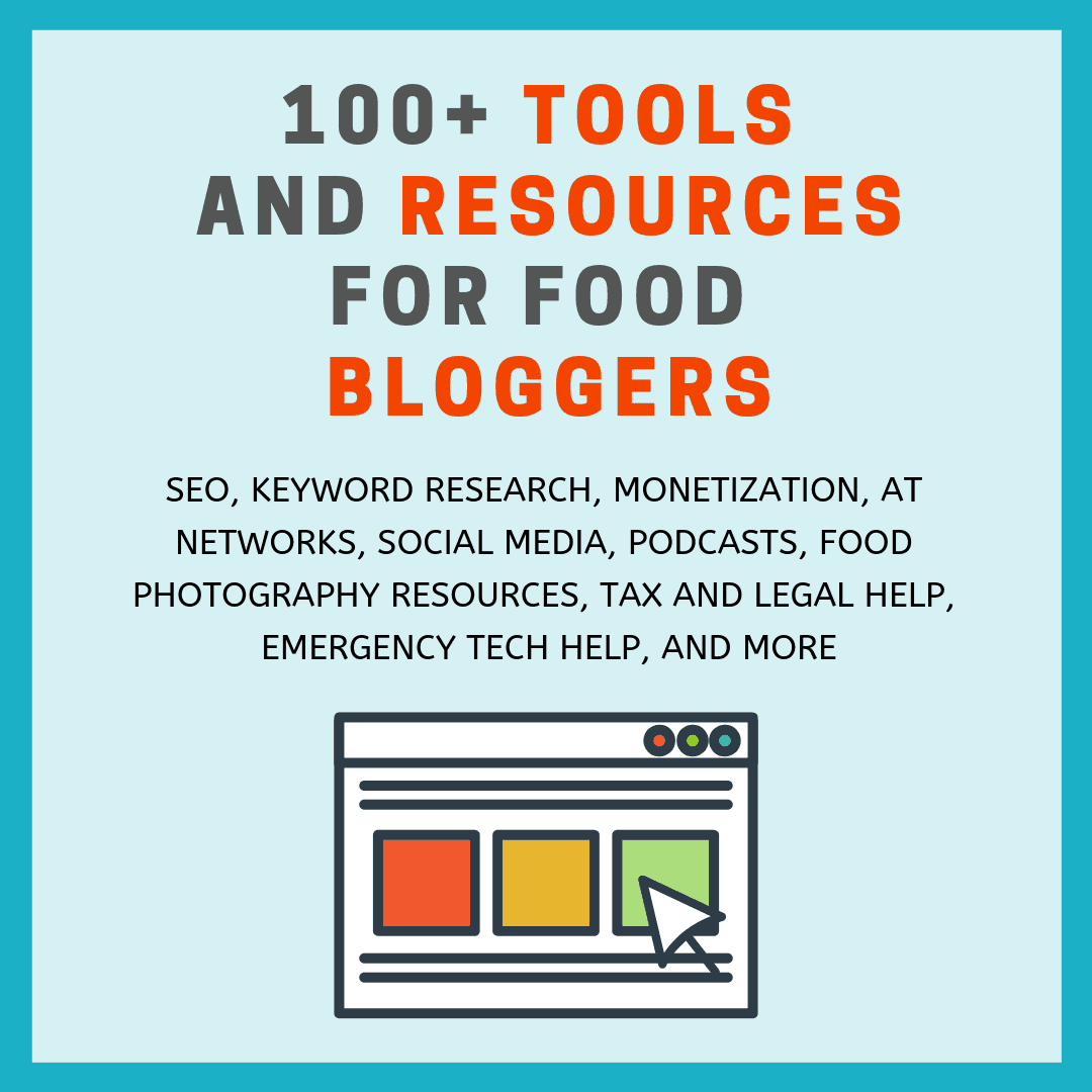 100 tools and resources for food bloggers