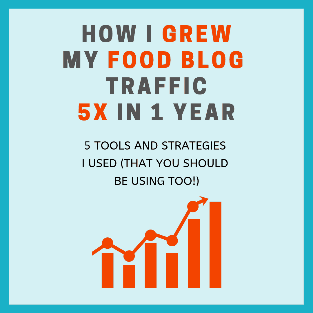 image of growing your food blog traffic