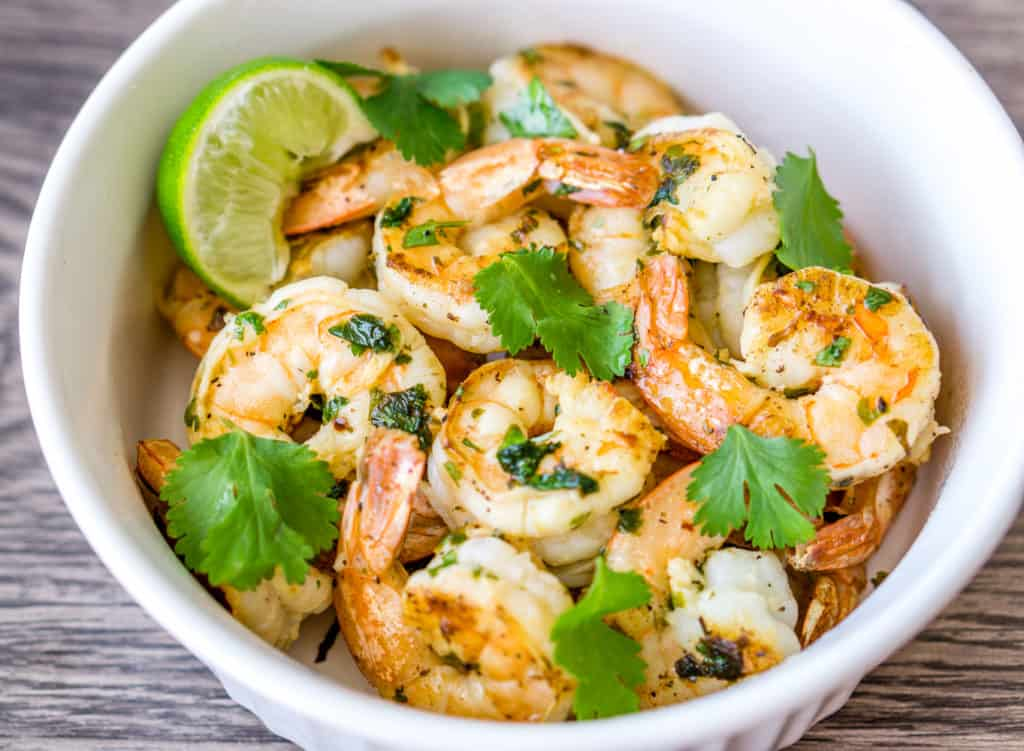 image of cilantro lime garlic shrimp