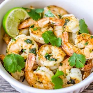 image of cilantro lime garlic shrimp
