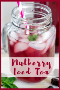 image of mulberry iced tea for pinterest