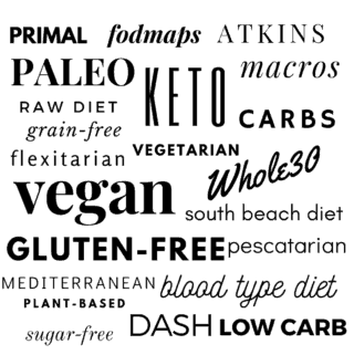 what does healthy eating mean? list of diets
