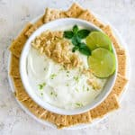 key lime pie dip with graham crackers