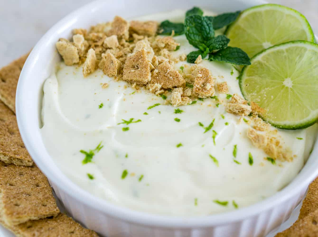 image of key lime pie dip in a bowl