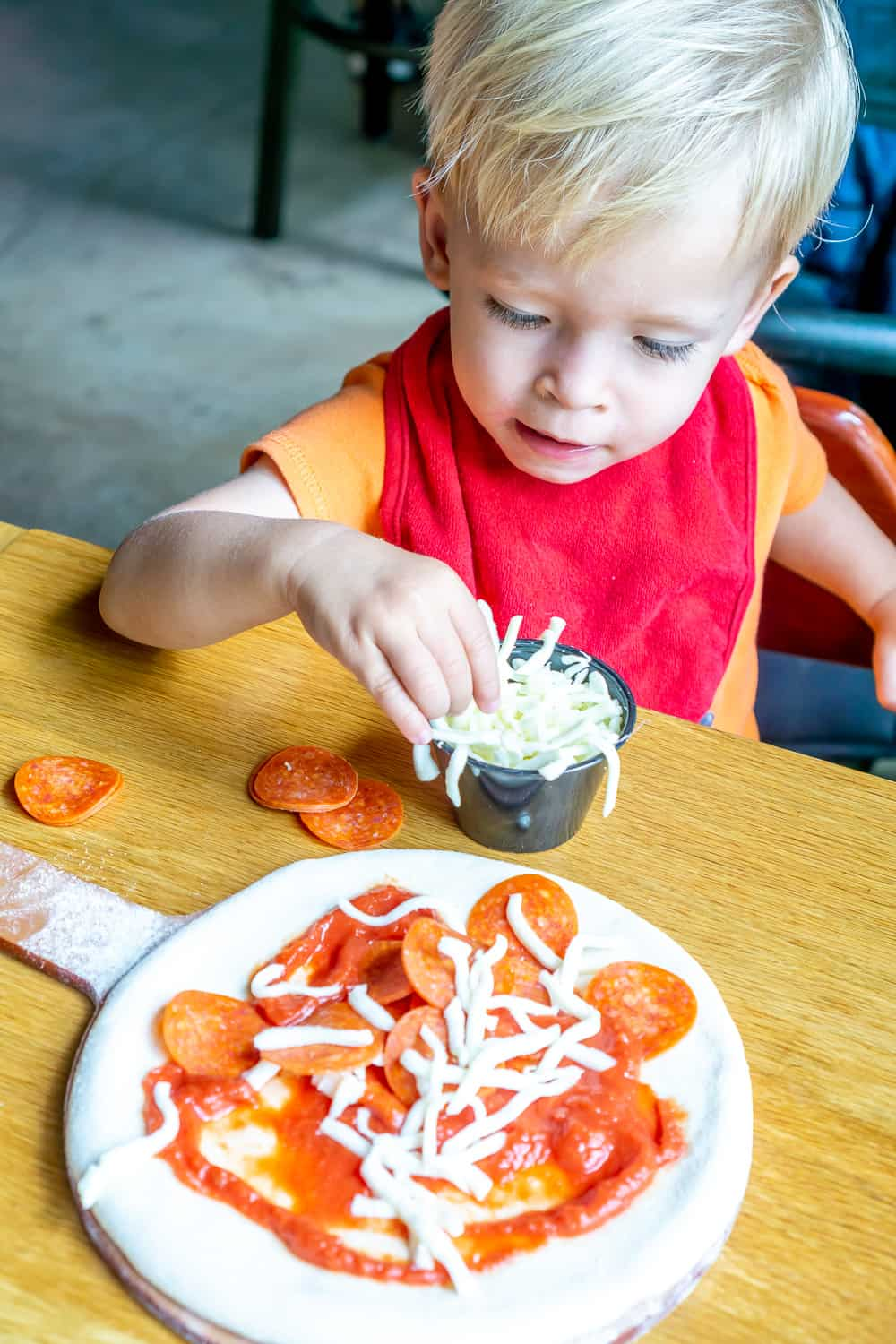 build your own pizza from the kids menu