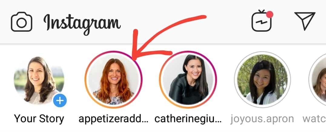 instagram stories screenshot