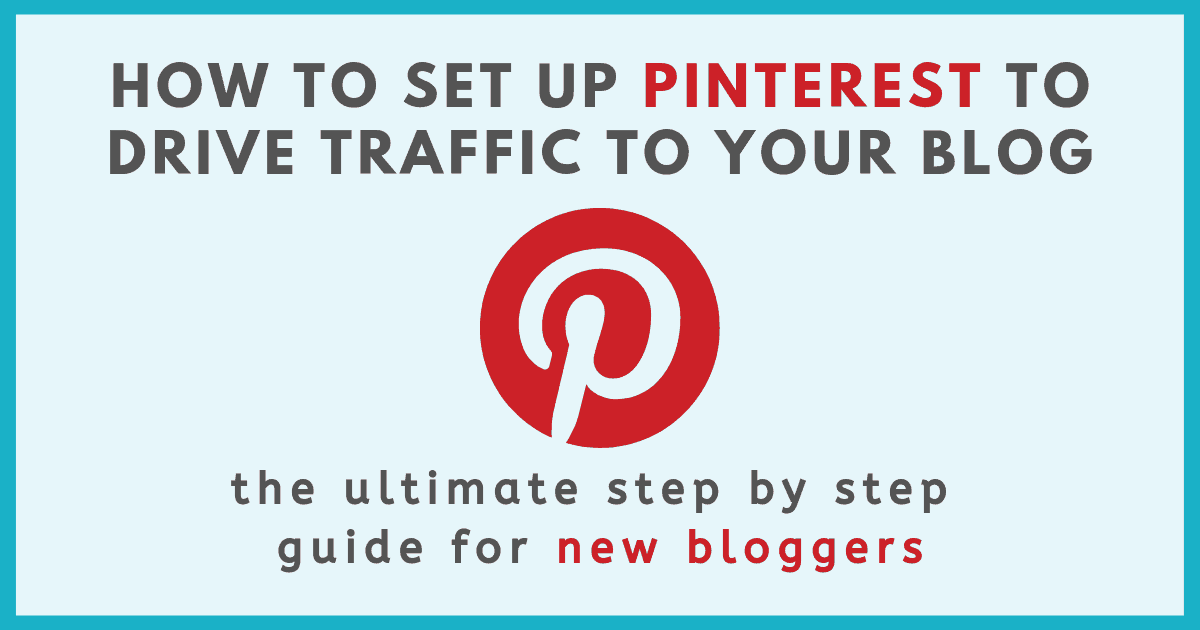 pinterest guide for new bloggers graphic