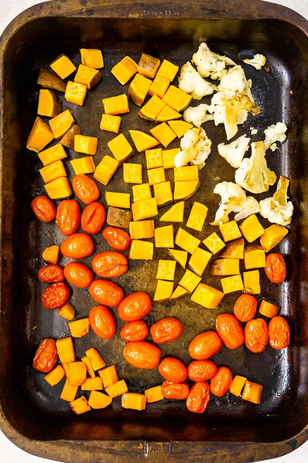 roasted vegetables for buckwheat bowls